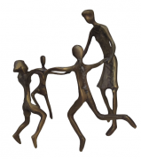 Escultura Roda Roda Bronze