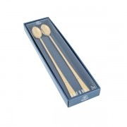Jogo 2 Colheres Aço Inox Bailarina Oxford Dourado 30 cm