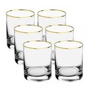 Jogo 6 Copos Barware Gold Cristal Ecológico 320 ml