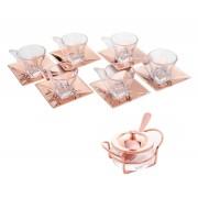 Kit - Xícaras Café e Açucareiro Rosé