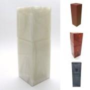 Porta Escova de Dente com Tampa Quadrado Diversas Cores -  Polido