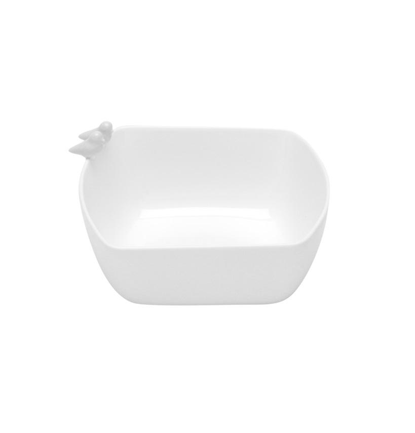 Bowl Birds Porcelana Branco