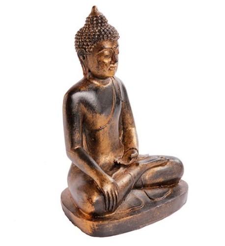 Buda Sentado Thai Free Hand Resina 22 cm