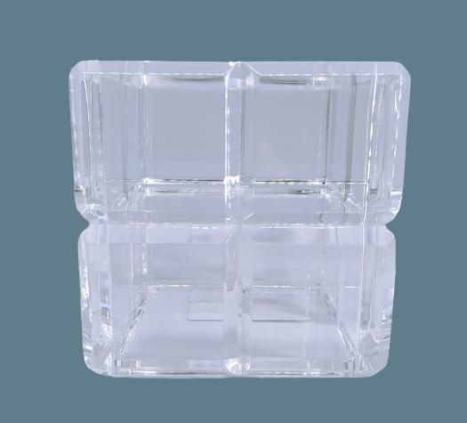 Cubo organizador em Acrílico Bisotê - 10 x 10 cm
