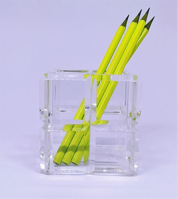 Cubo organizador em Acrílico Bisotê - 8 x 8 cm