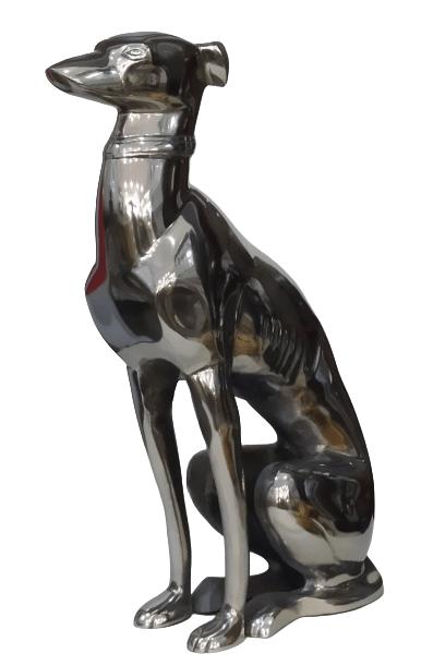 Escultura Cachorro em Alumínio