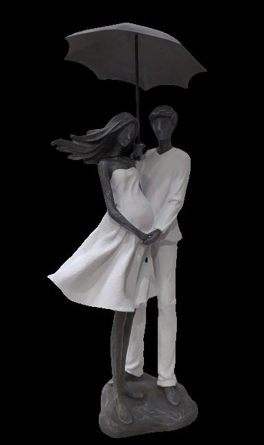 Escultura Casal Guarda Chuva