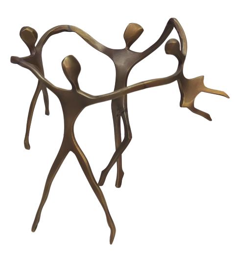 Escultura Ciranda Bronze Casal de Filhos