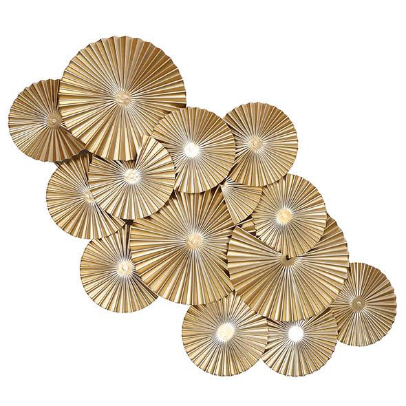 Escultura de Parede Leques Dourados