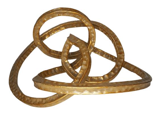 Escultura Dourada Galaxy