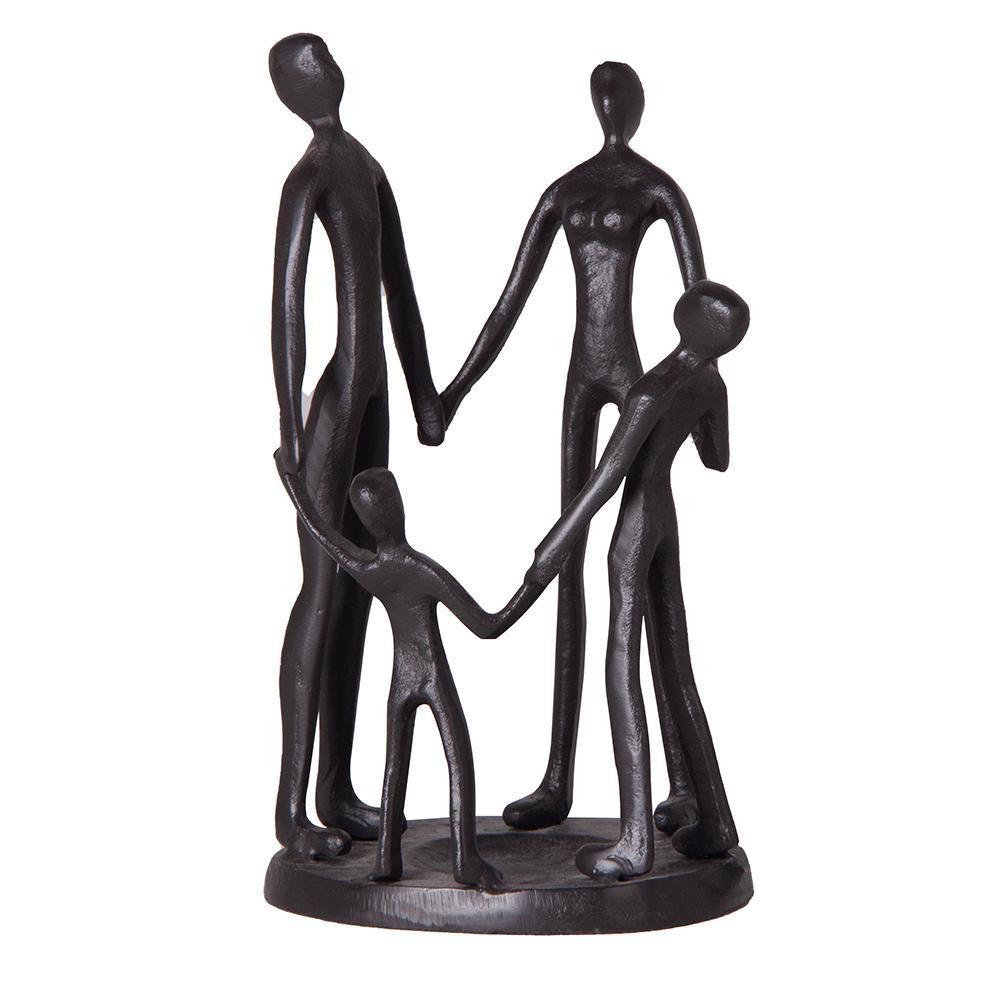Escultura em Metal Família Roda