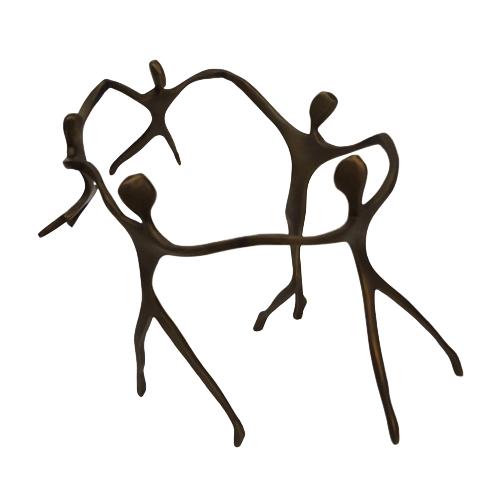 Escultura Família Ciranda Bronze - 2 Meninos, 1 Menina