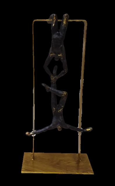 Escultura Ginastas 42cm