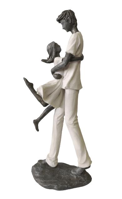 Escultura Pai e Filha