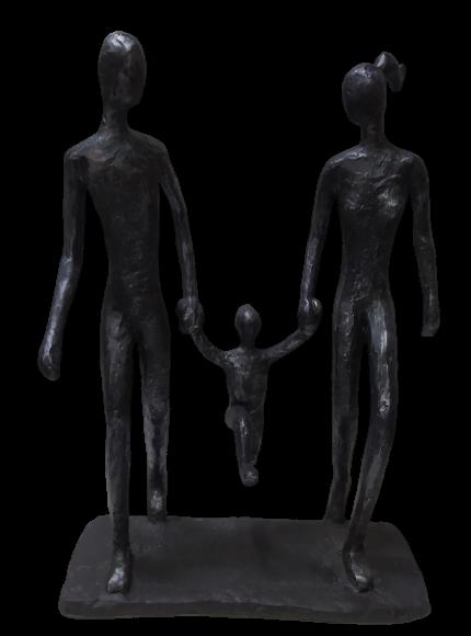 Escultura Passeio Familiar
