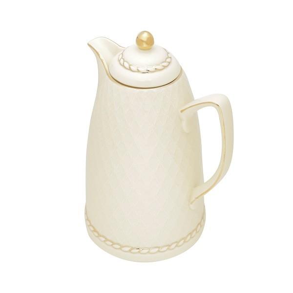 Garrafa Térmica Porcelana Renda Creme 900 ml