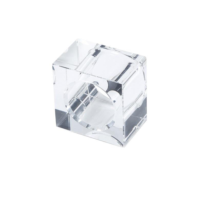 Jogo 4 Anéis Guardanapos Cristal Óptico Square
