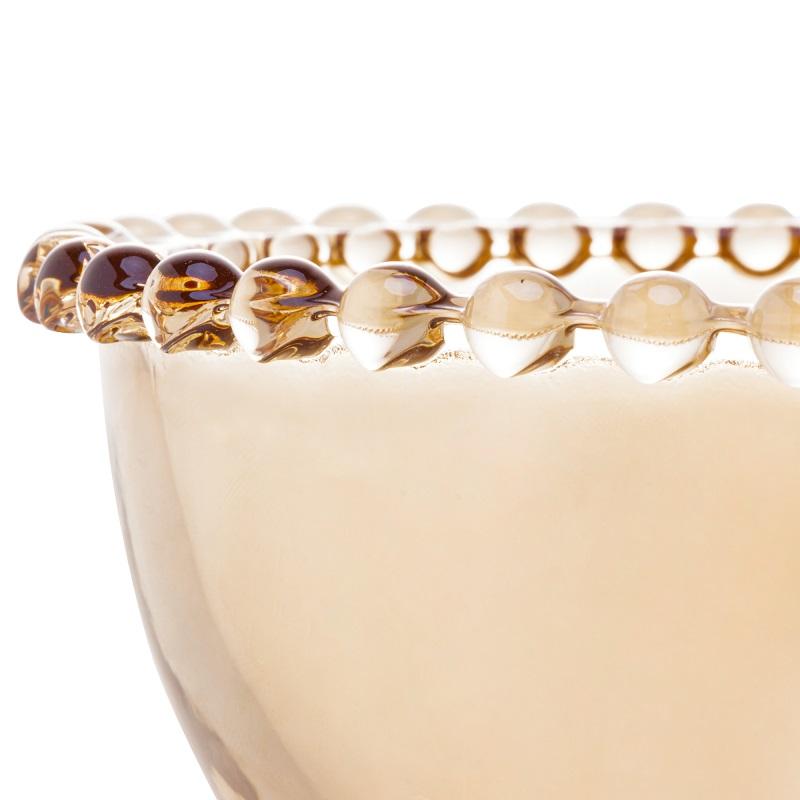 Jogo 4 Bowls Pearl Cristal Âmbar 14 x 8 cm