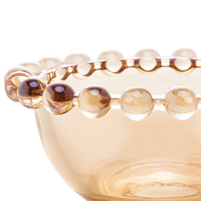 Jogo 4 Bowls  Pearl Cristal Âmbar 9 x 4 cm
