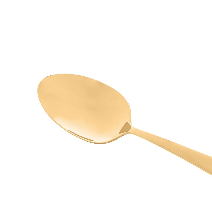 Jogo 6 Colheres para Sobremesa Berna Aço Inox Dourado - Wolff