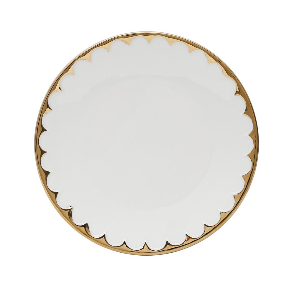 Jogo 6 Pratos Egg Sobremesa Porcelana 20 cm