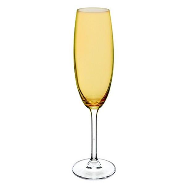 Jogo 6 Taças Champagne Cristal Titânio 220 ml