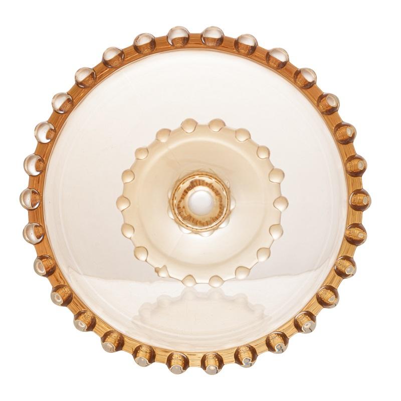 Jogo 6 Taças Sobremesa Pearl Cristal Âmbar