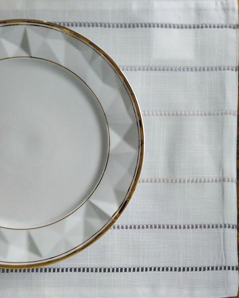 Jogo Americano Cinza Linea 35 x 50 cm - 2 Peças