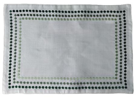 Jogo Americano Punti Verde 35 x 50 cm - 2 Peças