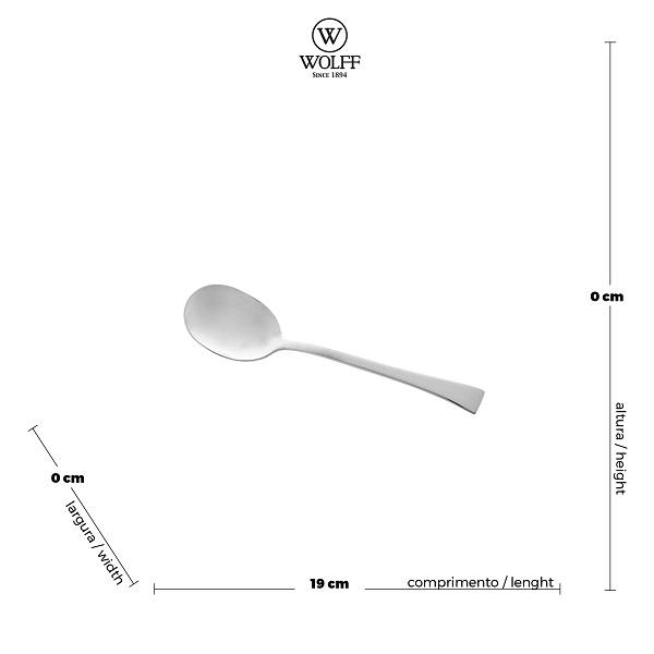 Jogo Colher e Garfo para Salada 2 pçs Berna Aço Inox - Wolff