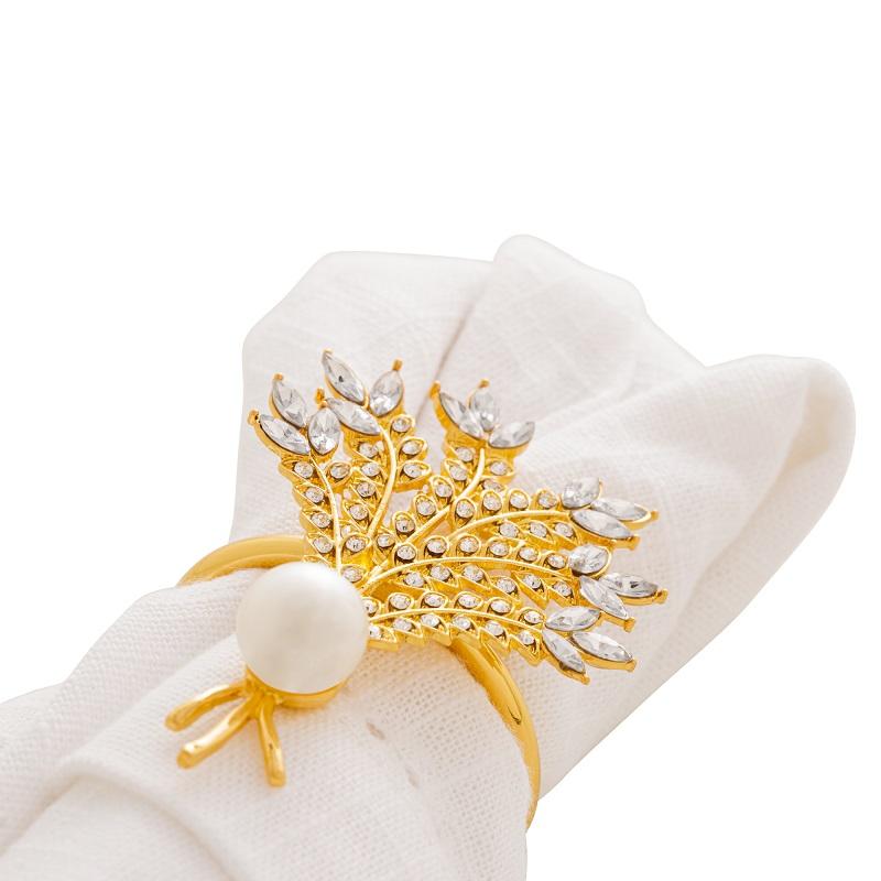 Jogo de Anéis para Guardanapos 4 peças - Zinco Dourado