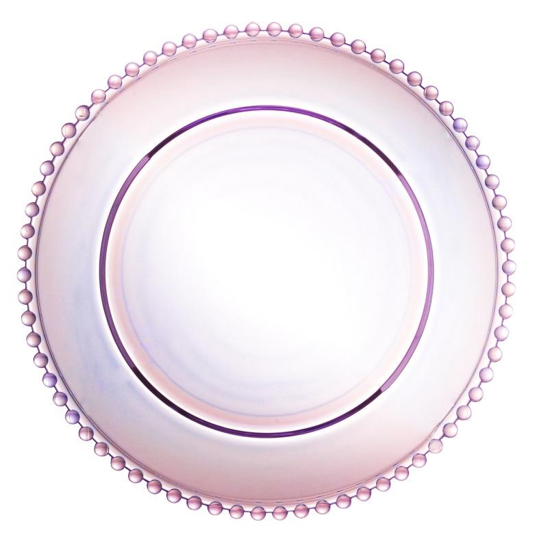Jogo de Pratos Pearl Rainbow com Sousplat e Argolas