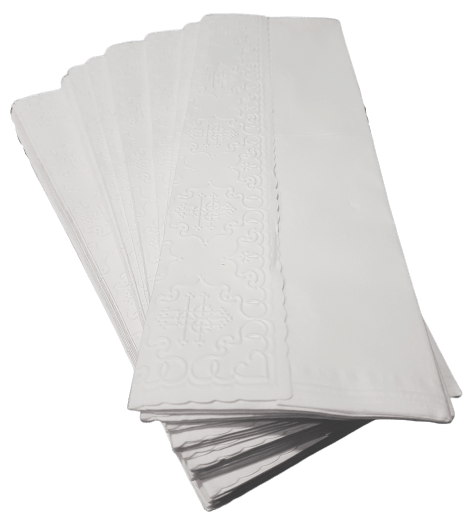 Kit 4 Pacotes Papel Toalha Lavabo Relevo 100 Unid
