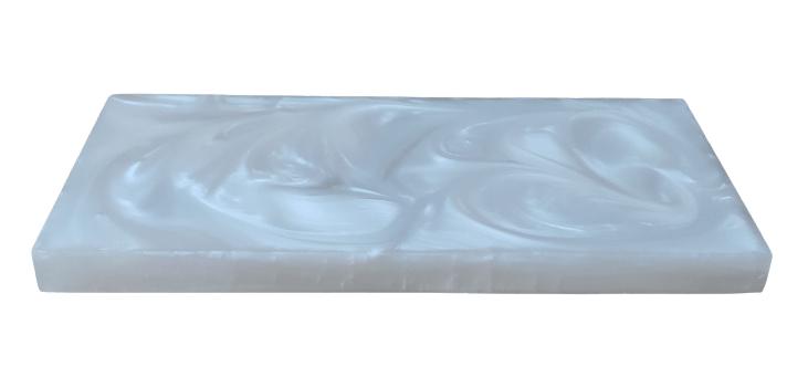 Kit Lavabo - Saboneteira e dispenser álcool gel Branco madrepérola