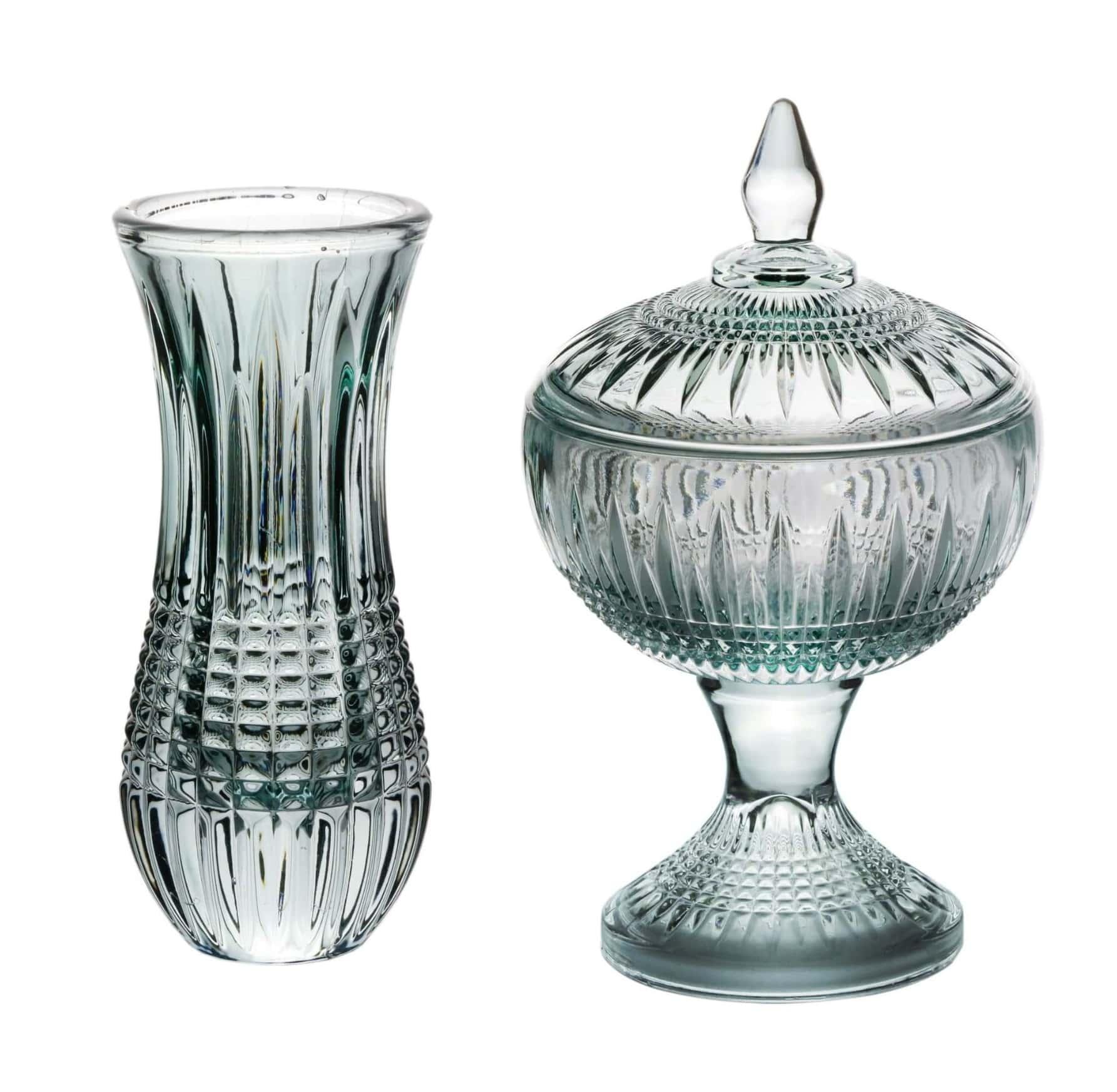 Kit Verde - Mini Vaso e Potiche Cristal