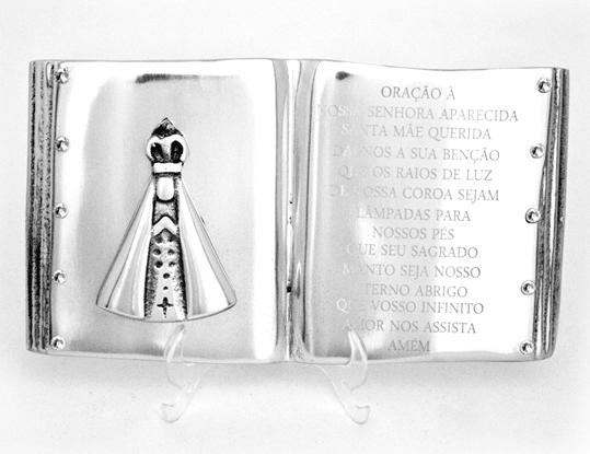Livro Nossa Senhora Aparecida com Cristal 1020