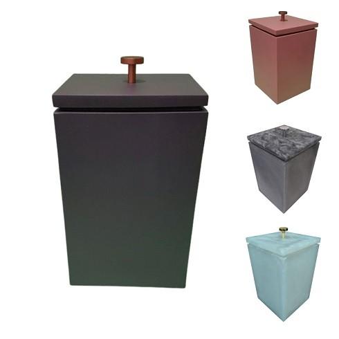 Lixo Quadrado Resina Diversas Cores -  Fosco