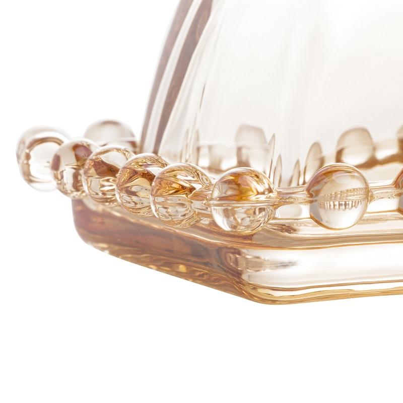 Manteigueira Cristal Pearl Âmbar