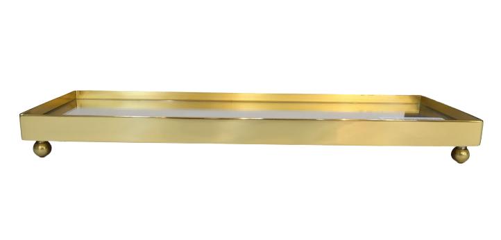 Mini Bandeja Lisa Fundo Espelho (latão)2993/L