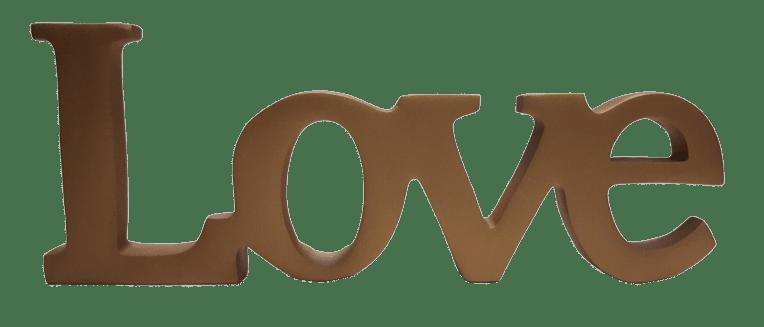 Palavra Love Color Cobre 1488C