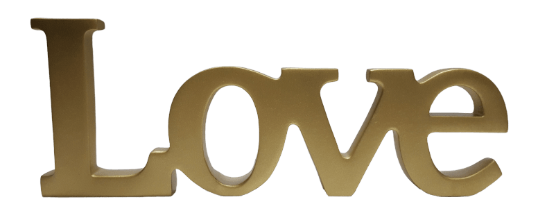 Palavra Love Color Ouro 1488C
