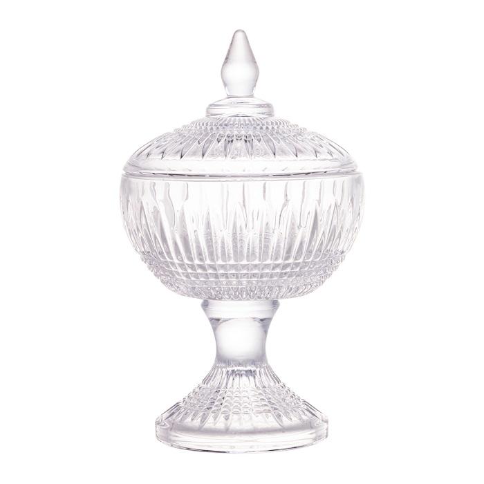 Potiche Decorativo Cristal com Pé Queen - Wolff