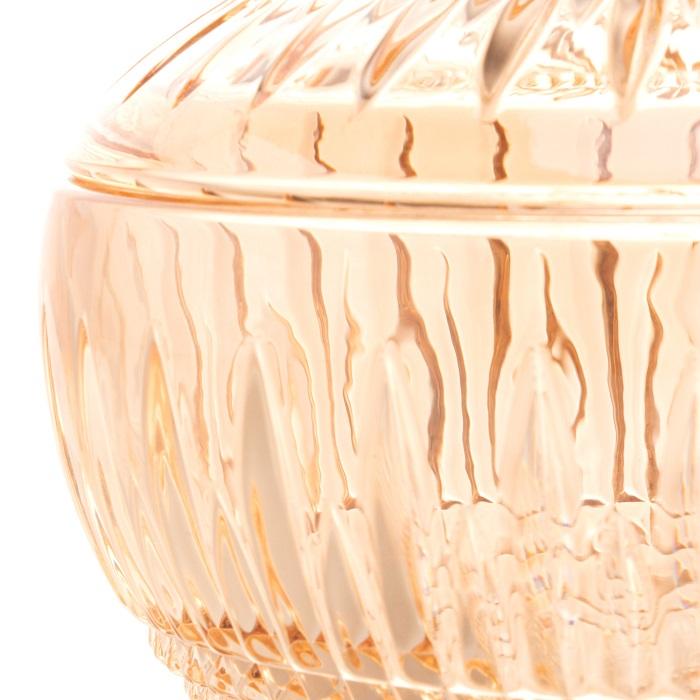 Potiche Queen Cristal Âmbar 14 x 15 cm