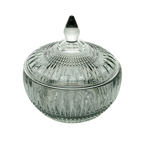 Potiche Queen Cristal Verde Wolff - 14 x 15 cm
