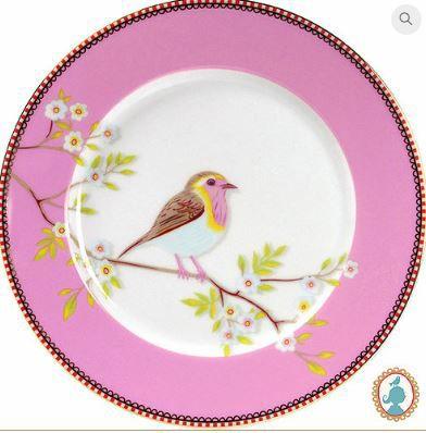 Prato de Sobremesa Rosa Floral Pip Studio - Unitário