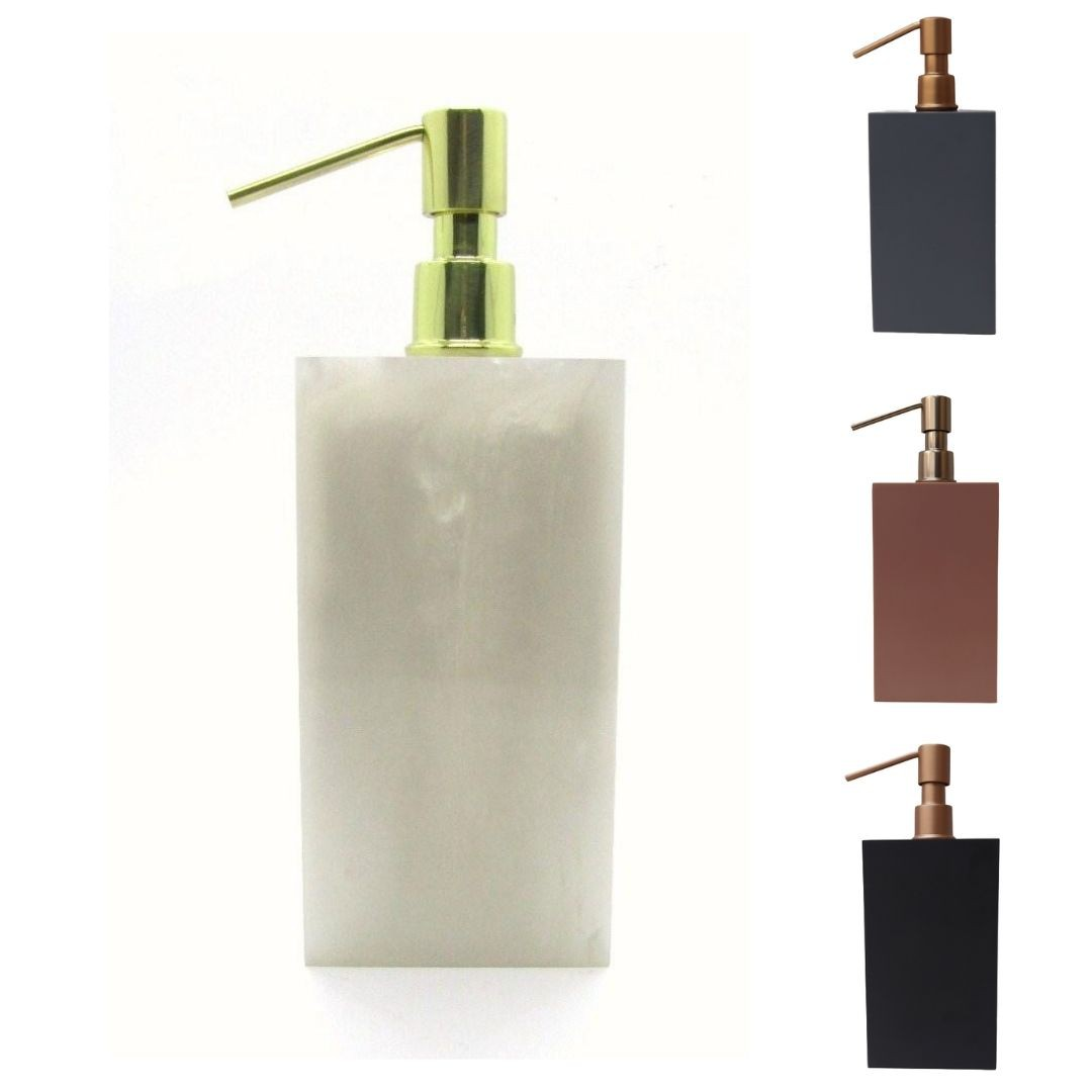Saboneteira Liquida Quadrada Diversas Cores -  Fosco