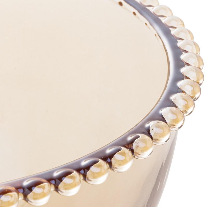 Saladeira Pearl Cristal Âmbar 21 x 12 cm