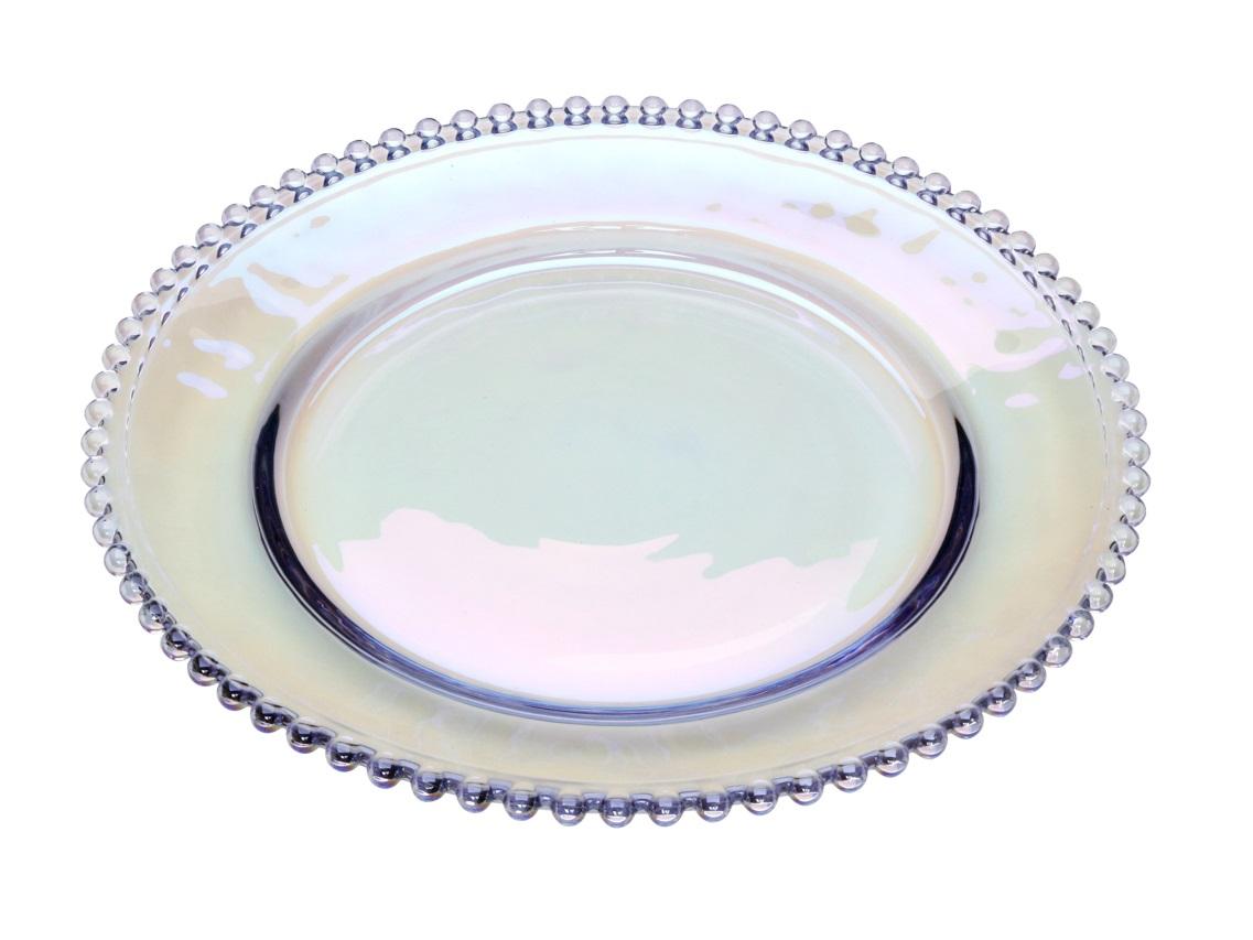 Sousplat Pearl Cristal Rainbow 32 cm