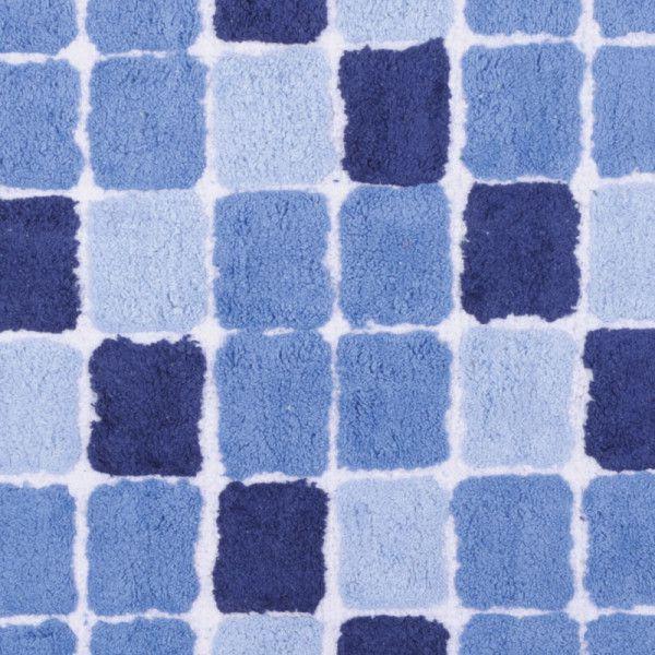 Tapete Pastilha Vz3870 50x70 Azul