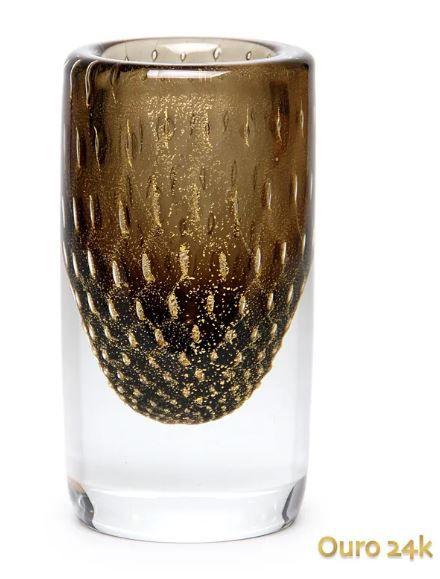 Vaso Cilind. 2 Tela Fm C/ Ouro-e 17421 Cadoro
